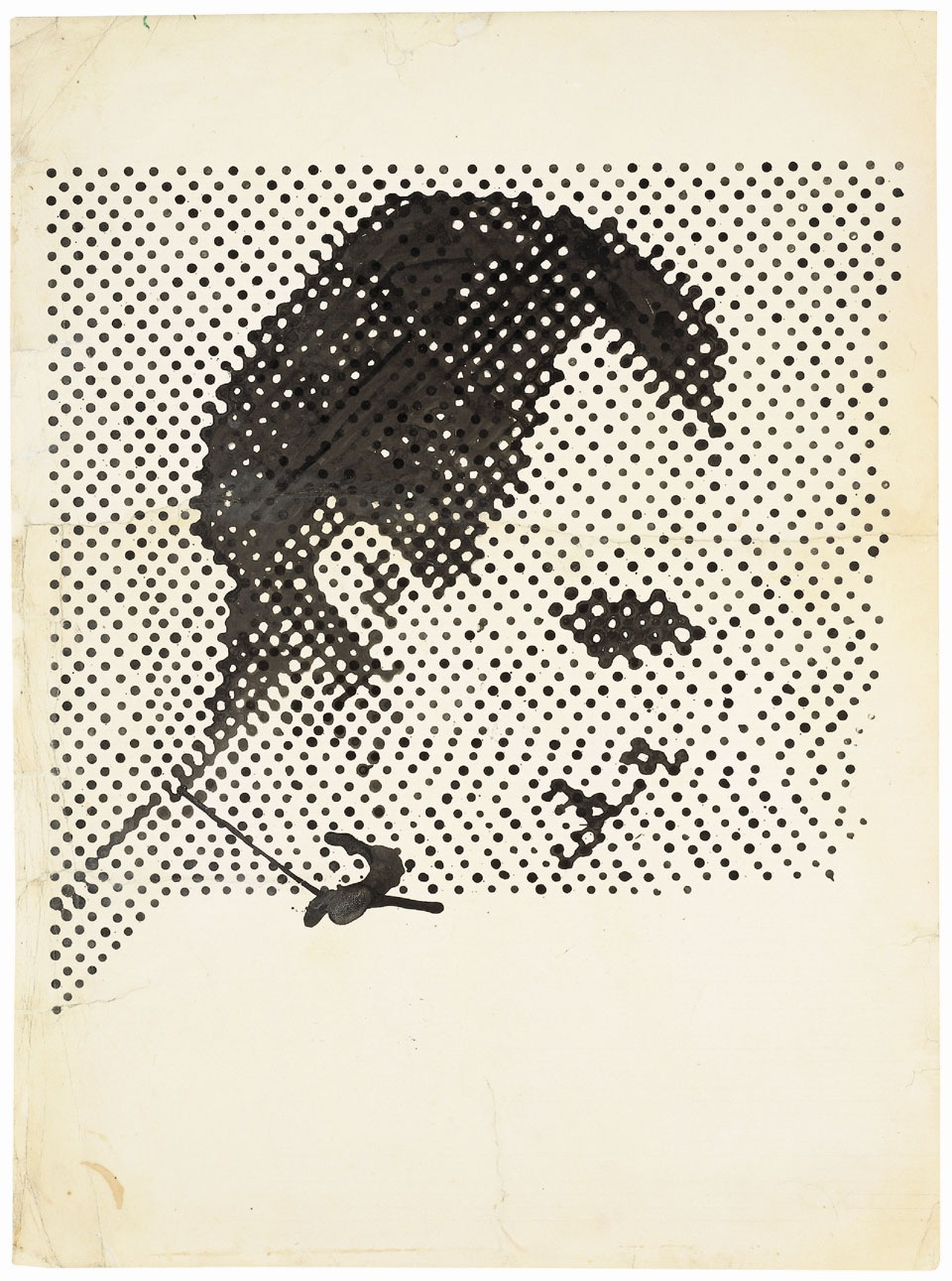 Raster Drawing (Portrait of Lee Harvey Oswald) 1963 © The Estate of Sigmar Polke / DACS, London / VG Bild-Kunst, Bonn