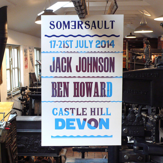 A letterpress poster for Somersault festival