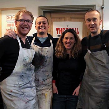 Team Typoretum, from left: Robert, Jamie, Cecilia and Justin