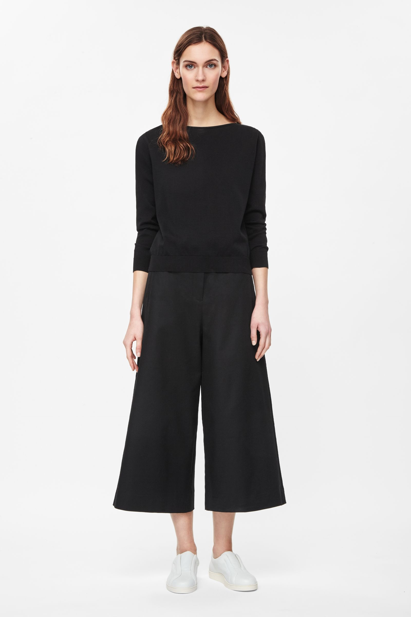 Wide-leg cropped trousers, £79, Cos