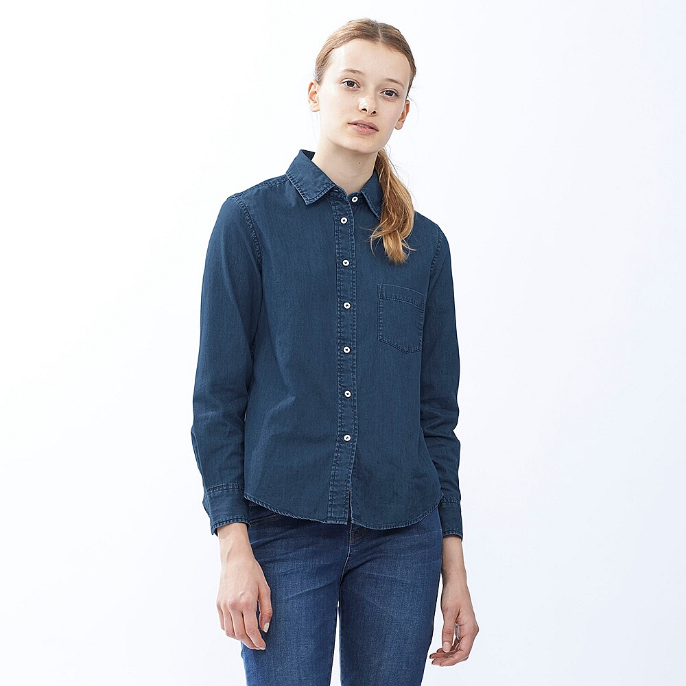 Denim shirt, £19.90, Uniqlo