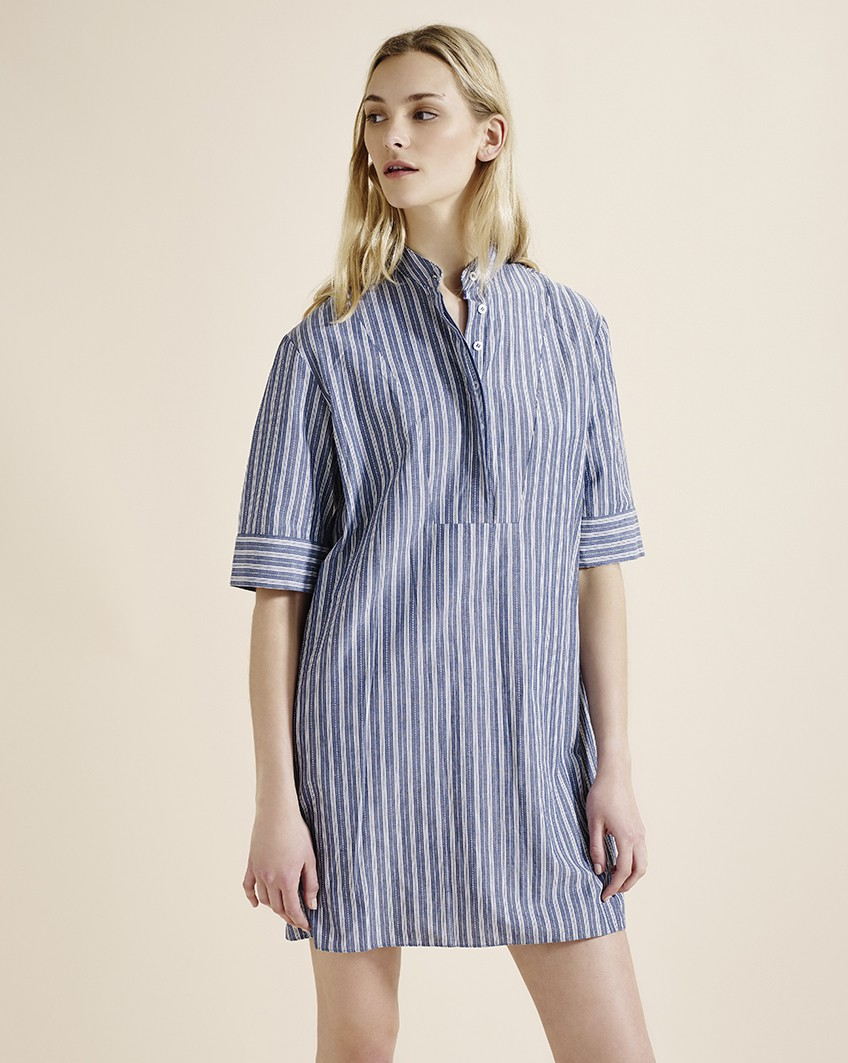 Bib front shirt dress, £21, Atterley