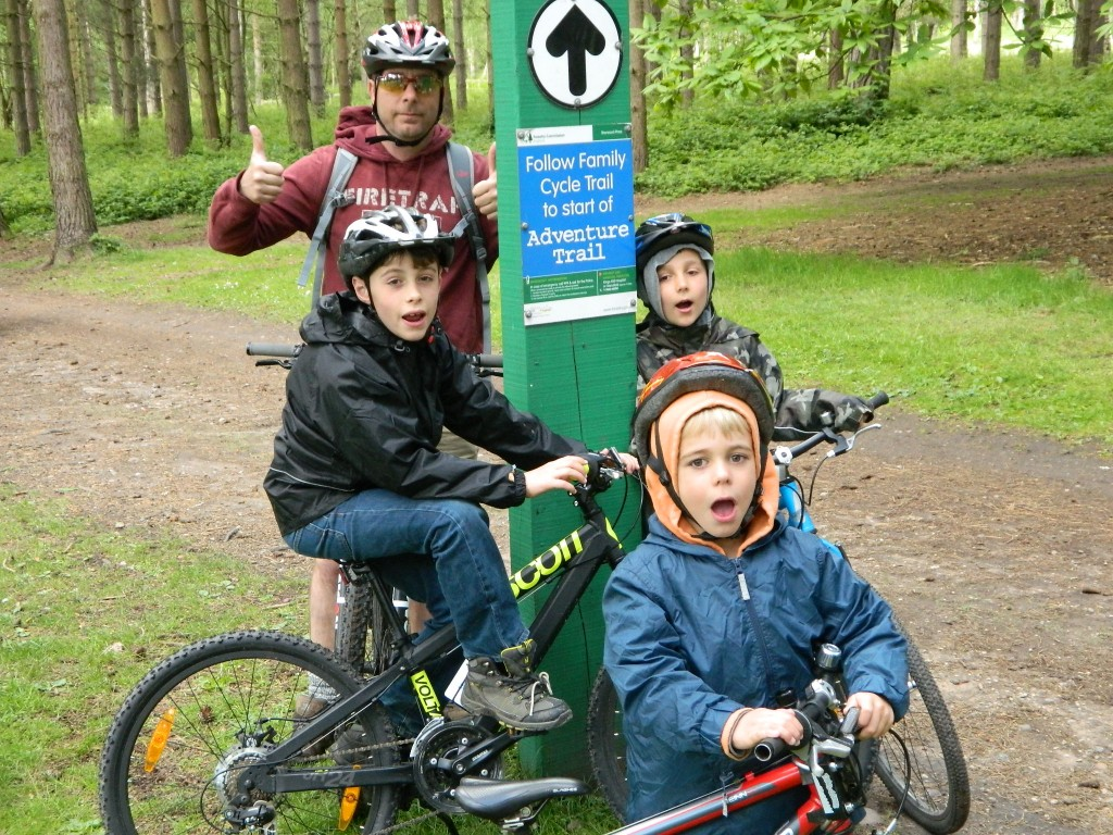 Team Wood take on the Family Trail at Forest Pines, Sherwood