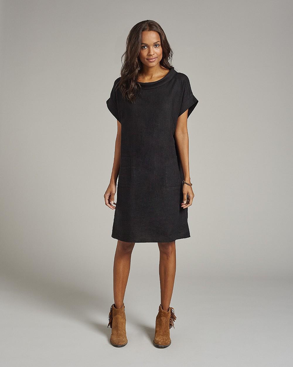 Linen dress, £85, East