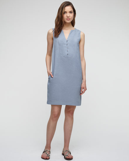 Ladder stitch linen dress, £79, Jigsaw