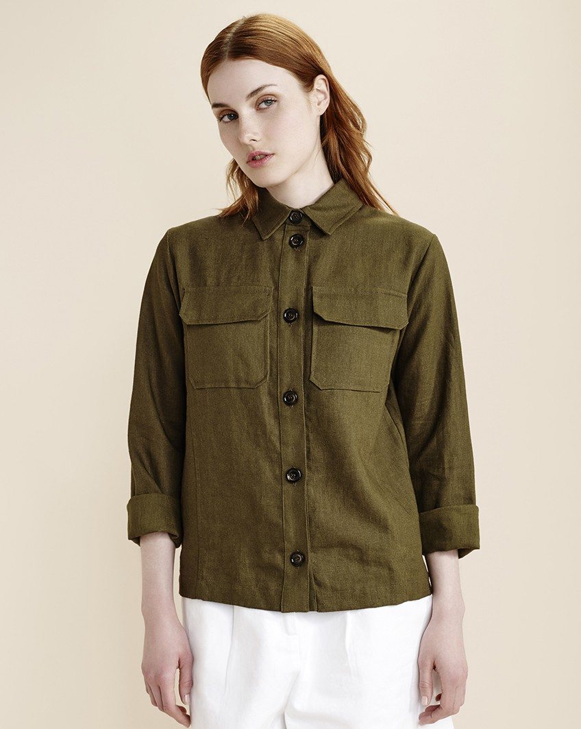 Linen shirt, £55, Atterley