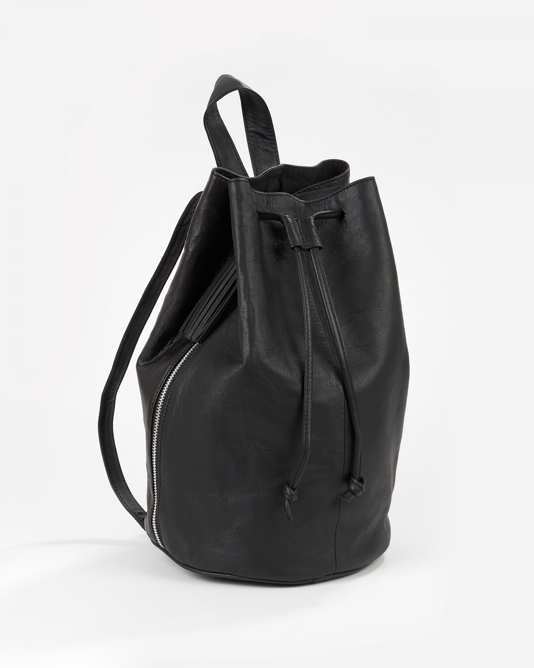 Leather backpack, £110, Selected Femme