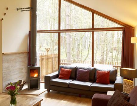 A Golden Oak open-plan sitting room