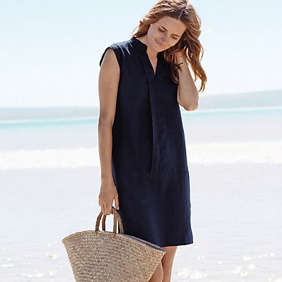 Linen dress, £95, The White Company