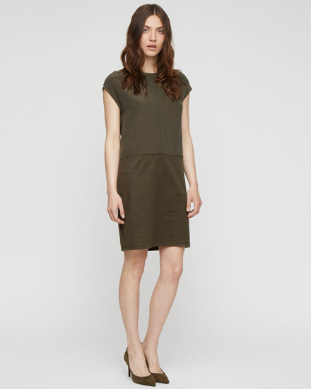Silk panel dress, £98, Jigsaw