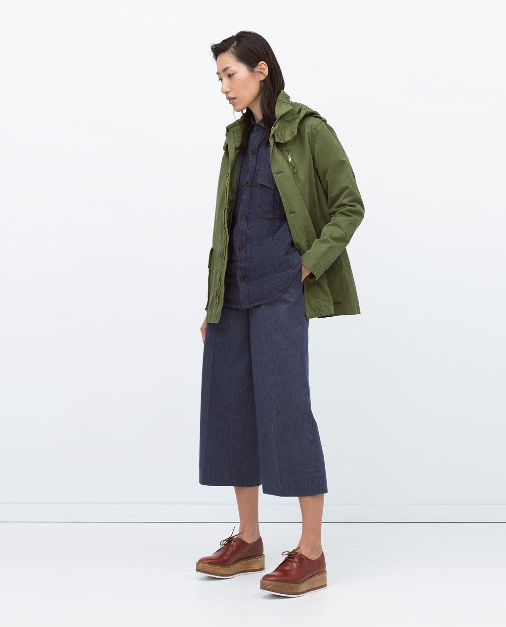 Military jacket, £29.99, Zara