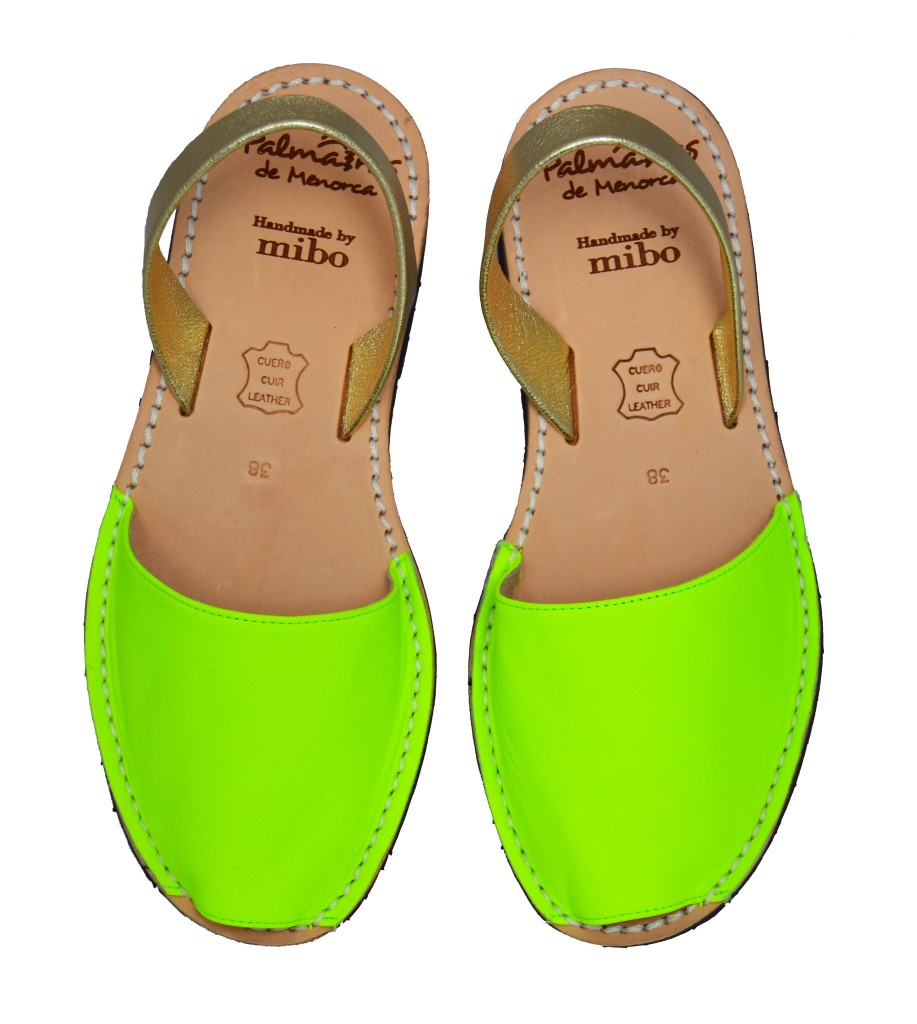 Neon yellow with gold strap, £46, Palmairas de Menorca