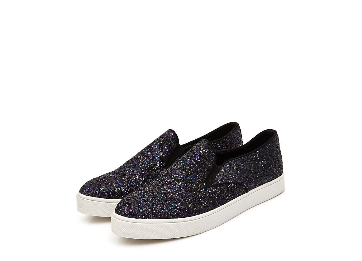 Glitter plimsolls, £14.99, New Look