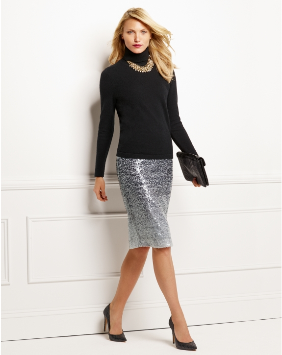 Sequin pencil skirt, £96.75, Pure Collection