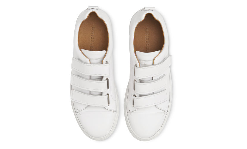 White trainers, £125, Whistles